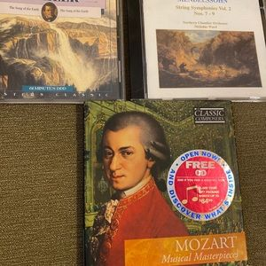 Mahler, Mendelssohn and Mozart- 3 classical CDs